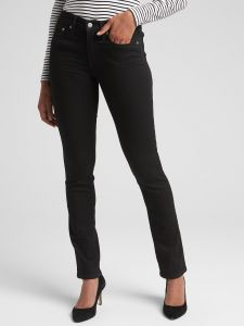 JEANS STRAIGHT BLACK MUJER