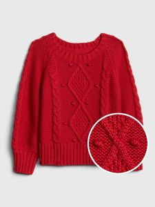 CHALECO TODDLER GIRL CABLE-KNIT