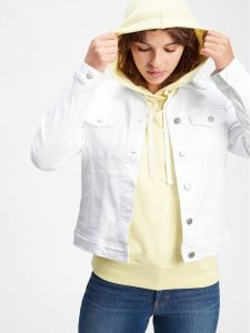 CHAQUETA JEANS BLANCA MUJER