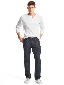 JEANS STRAIGHT RINSE HOMBRE